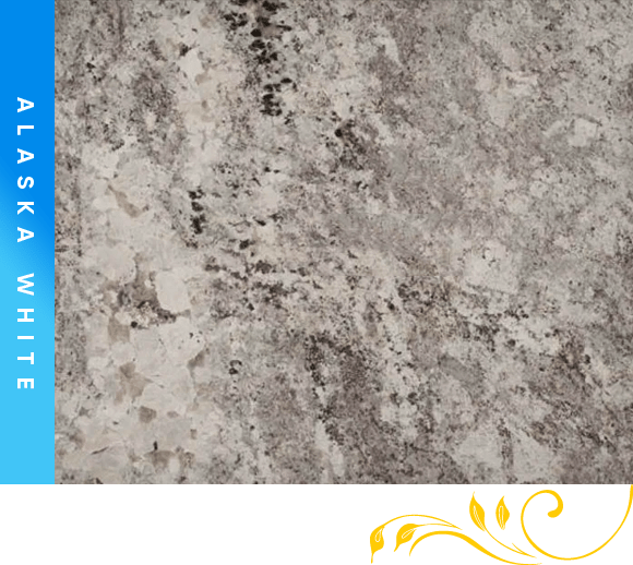 Alaska White Granite Counter Top Cabinet Outlet
