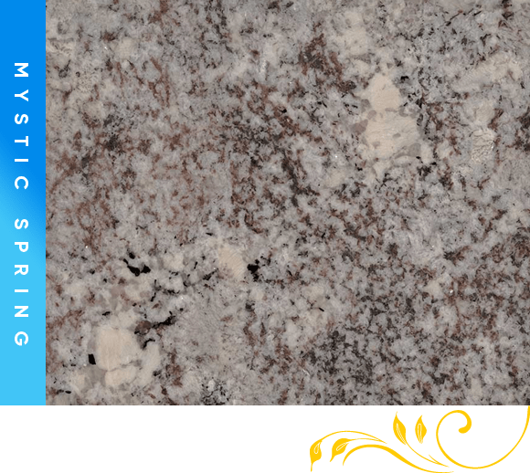 Mystic Spring Granite Counter Top Cabinet Outlet