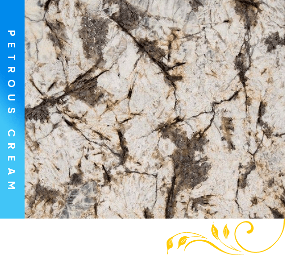 Petrous Cream Granite Counter Top Cabinet Outlet