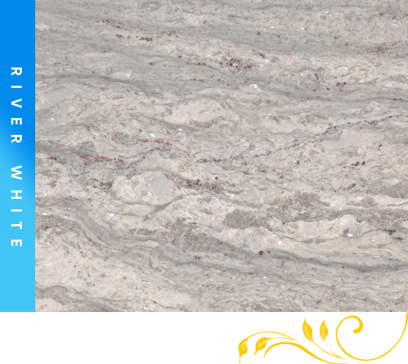 River White Granite Counter Top Cabinet Outlet