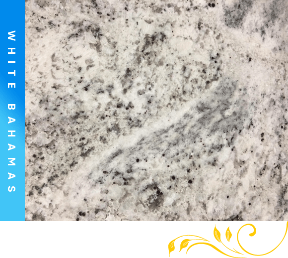 White Bahamas Granite Counter Top Cabinet Outlet
