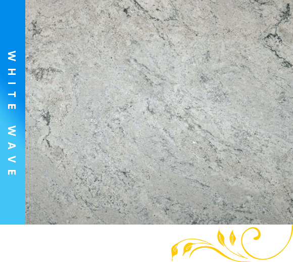 White Wave Granite Counter Top Cabinet Outlet